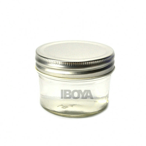 4oz Tapered Mason Jars/ Jam Jars/ Canning Jars/Honey Jars with Silver/Gold Cap