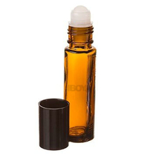 Top Quality 10ml Brown Roll On Glass Bottles with Roller Ball and Black Screw Cap